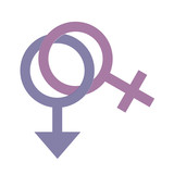 Gender Symbols on white background