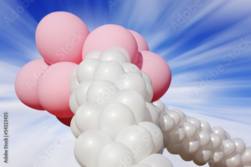 colorful balloons against the sky