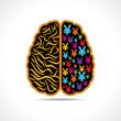 Conceptual idea silhouette image of brain with yen symbol