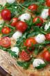 Focaccia rucola pomodorini