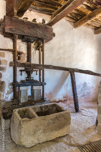 Old bathroom and toilet in Museum , Crete, Greece