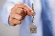 Leinwandbild Motiv Giving house keys