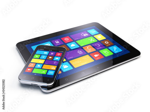 Tablet PC and Mobile Smartphone