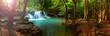 Leinwandbild Motiv Huay mae kamin waterfall