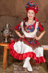 Russian girl in national dress