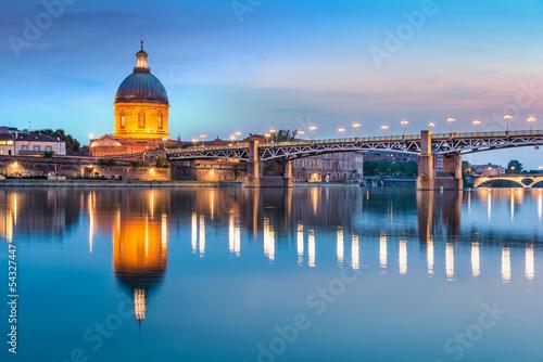 Papiers peints Pont Toulouse - Hôpital de La Grave et Pont Saint-Pierre