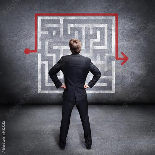 Geschäftsmann nutzt Workaround