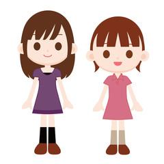 ワンピースの女の子 2人