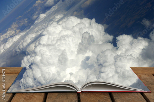 canvas print picture Wolkenbuch