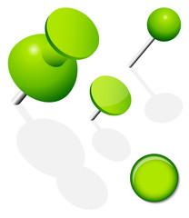 Set Pins, Needle & Magnet Green
