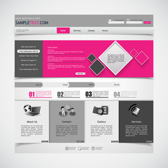 Website template with submenu