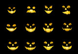 Faces of Jack-o-lanterns