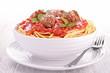 bowl of spaghetti and meatball