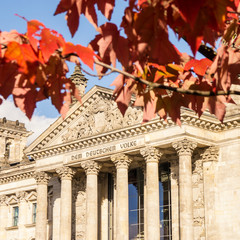 bundestag in autumn