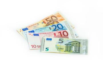 kleine Geldscheine, 5 Euro neu