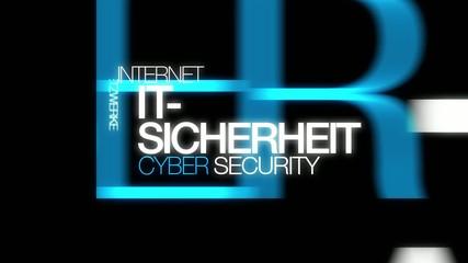 IT-Sicherheit Schutz Internetkriminalität Wort tag cloud Video