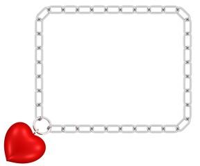 Kettenrahmen mit Herzanhänger