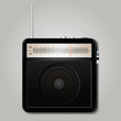 Square retro radio