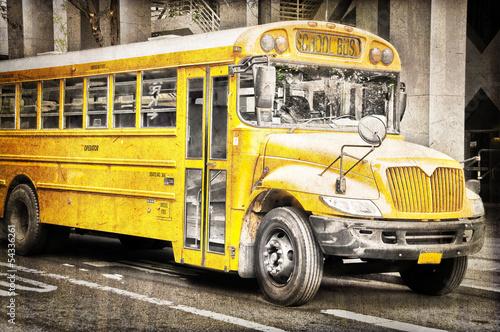 Fototapeten,bus,schule,school bus,autos