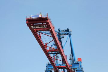 Details einer Containerbrücke