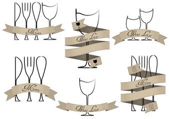menu, wine list