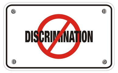 anti discrimination rectangle sign