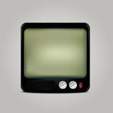 Square retro TV icon