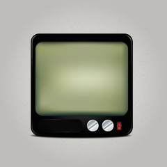 Square retro TV icon