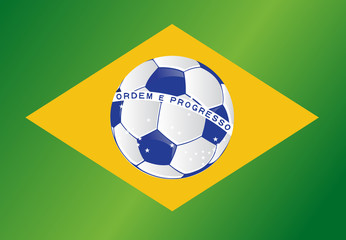 brazil soccer ball flag illustration design