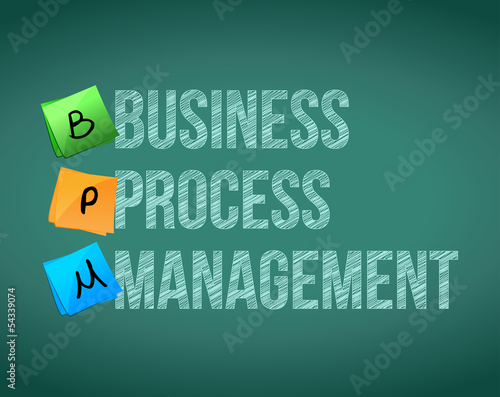 business process management sign illustration