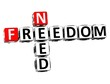 3D Need Freedom Crossword