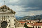 florentine landscape with Santa Maria Novella and hills poster