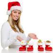 woman presents euros for christmas eve