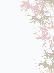 Light lilac abstract floral background, vector