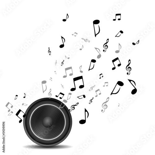 Lautsprecher Sound Noten - 54341496