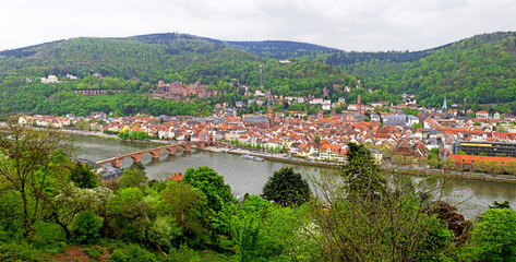 Panoramic view of Heildelberg, Germany