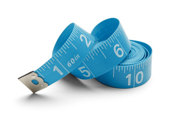 Blue Spiral Tape Measure