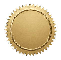Gold Metallic Seal