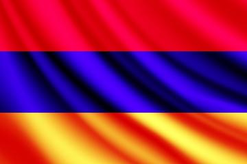 Waving flag of Armenia,vector