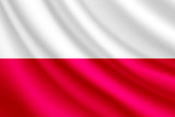 Waving flag of Poland,vector