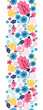 Vector fairytale flowers vertical seamless pattern background