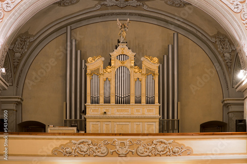 Organ in church