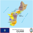 Guam USA counties name location map background