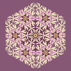 Lace floral ornament.