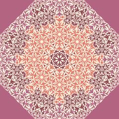 Lace floral ornament card.