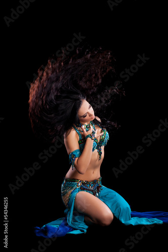 Bellydancer doing a Hair Toss