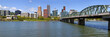 Portland Oegon Skyline panorama and River.
