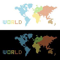 五大陸の世界地図