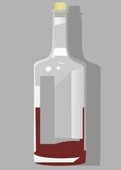 A bottle of wine in the spirit of the avant-garde.