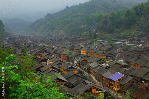 Zhaoxing Town, Liping County, Guizhou, China. Zhaoxing  Village